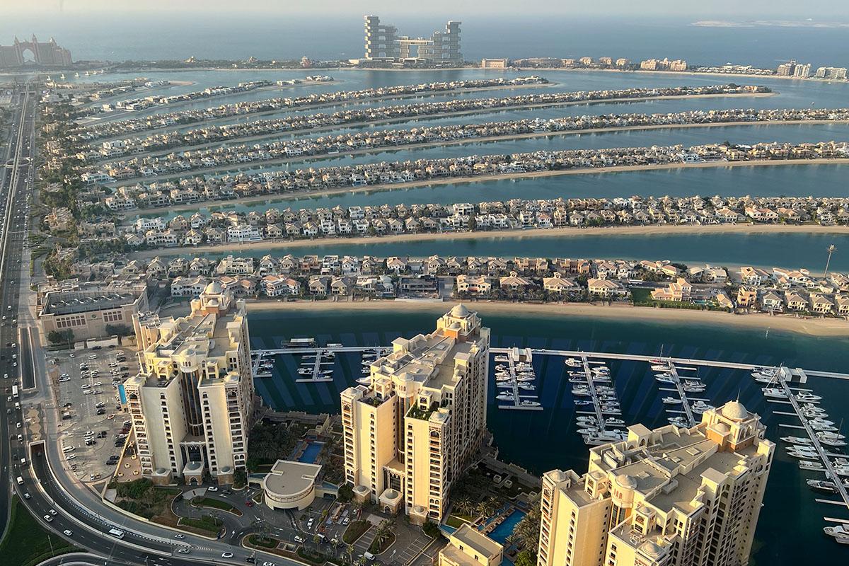 The Palm Jumeirah eiland in Dubai